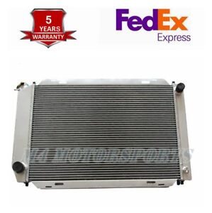 For 1979 93 Ford Mustang Foxbody V8 V6 Lx Gt Cobra 3 Row Core Aluminum Radiator