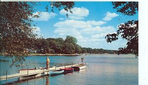 HARRISON MICHIGAN GREETINGS THE QUIET BEAUTY OF A LAKE PM1962 MICH H $1.00