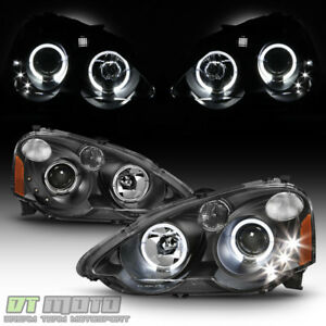 2002 2004 Acura Rsx Integra Dc5 Halo Projector Led Headlights Headlamps 02 03 04