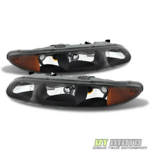 Black 1999 2004 Oldsmobile Alero Replacement Headlights Headlamps Set Left Right