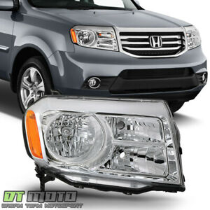 For 2012 2015 Honda Pilot Halogen Replacement Headlights Headlamp Passenger Side