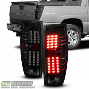 New Black Smoke 2002 2006 Chevy Avalanche 1500 2500 Led Tail Lights Brake Lamps