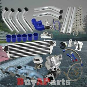 Turbo turbocharger Manifold Chrome Blue Upgrade Kit For Volkswagen Bettle 1 8t