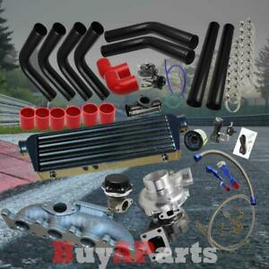 Diy Black Intercooler Piping Red Coupler Turbo Upgrade Kit For Audi Tt 1 8t