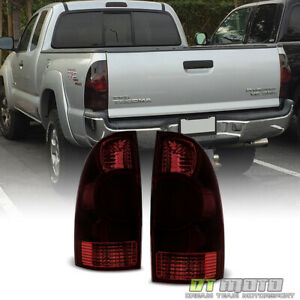 For Smoked 2005 2008 Toyota Tacoma Tail Lights Brake Lamp Left Right 05 06 07 08