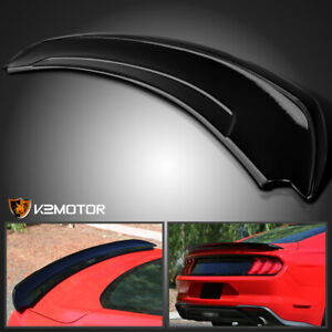 Fits 2015 2020 Ford Mustang Track Pack Style Painted Black Trunk Spoiler Wing
