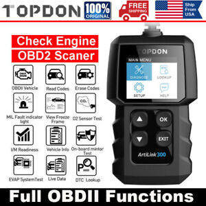 Topdon Al300 Car Obd2 Scanner Code Reader Check Engine Fault Diagnostic Tool Us