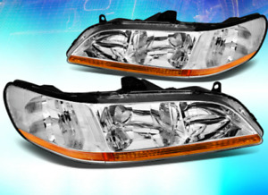 For 1998 2002 Accord Cg Chrome Housing Amber Reflector Oe Replacement Headlight