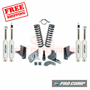 Pro Comp 4 Lift Kit W es Shocks rear Blocks 90 96 Ford F 150 2wd standard Cab