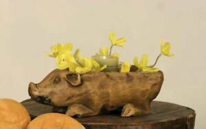 Country New Small Rustic Pig Bowl