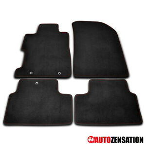 For 2006 2010 Honda Civic 2dr Coupe Front rear Black Nylon Red Stitch Floor Mat