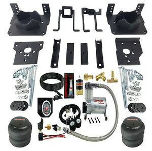 Air Bag Suspension Tow Kit Black On Board Control For 2011 16 Ford F250 F350 2wd
