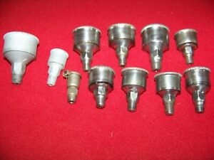 Lot Of 11 Steel Hit Miss Engine Grease Cup Oilers