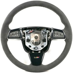 2009 2015 Cadillac Cts v Steering Wheel Automatic Black Suede Black Stitching