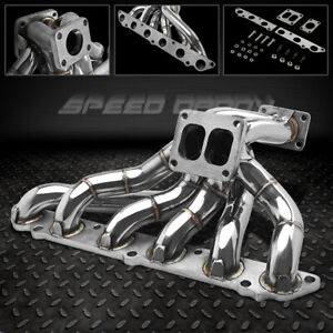 T4 Stainless Turbo Manifold Exhaust For 86 92 Toyota Supra Mkiii 7m gte 7mgte