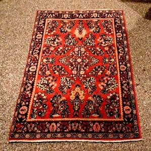 Authentic Oriental Old Pile Rug Of The 1960 S