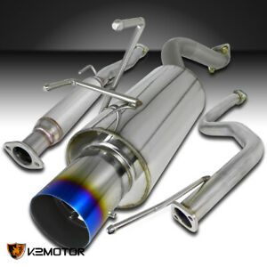 For 1996 2000 Honda Civic Hatchback 3dr Burnt Tip Muffler Exhaust Catback System