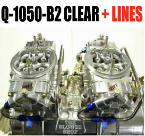 Quick Fuel Q 1050 b2 1050 Cfm Gas Clear Aluminum Supercharger Blower Carbs Lines
