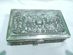 Cigar Box Silver Molded Ornaments In Indian Style Indonesia 20th Century