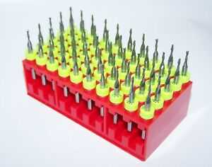 50 Piece Micro Machining Kit Carbide 1 16 End Mills 0625 Diameter