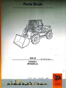Jcb 520 Le Loadall Owner s Parts Manual new 9800 7824 Issue 14