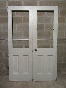 Antique Double Entrance French Doors 54 X 82 Architectural Salvage