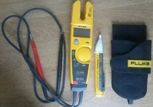 Fluke T5 1000 Voltage Continuity Current Electrical Tester W holster
