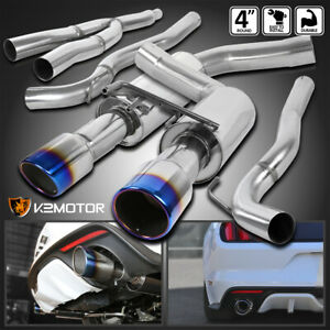 Fit 2015 2018 Ford Mustang 2 3l Ecoboost Stainless Burnt Tip Catback Exhaust hp