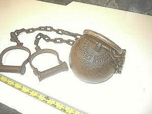 Ball Chain Leavenworth Kansas Prison Cast Iron