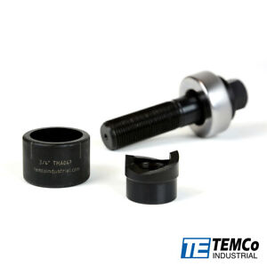 Temco Th0392 3 4 Conduit Hole Size Knockout Punch Unit With Manual Draw Stud