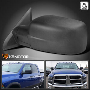 For 2009 2019 Dodge Ram 1500 Manual Fold Side Mirror Driver Left L