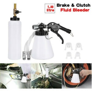 Pneumatic Brake Fluid Bleeder Tool Kit Car Air Extractor Clutch 1l Oil Bottle