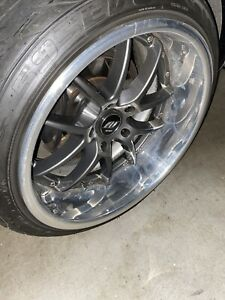 Work Wheels With Tires 5x114 3 17 3pc Jdm