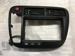 1999 2000 Honda Civic Dash Radio Bezel Oem 77251 s01w a001 20 Black Trim