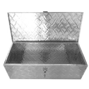 30inch Truck Trailer Transport Box Aluminum Storage Case Toolbox W Keys Silver