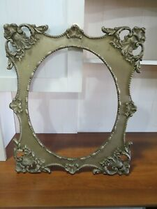 Antique Wood And Plaster Ornate Picture Frame 22 X 26