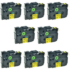8pk Tz 641 Label Tape Black On Yellow Tze 641 For Brother P touch Pt d600 18mm