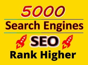 5000 Search Engines Directories Submission Website Seo Google Yahoo Bing