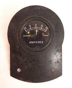Vintage Amperes Amp Gauge Rat Rod Steam Punk Hot Rod