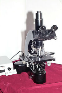 Classic Leitz Ortholux One Research Microscope Phototube Plan Objectives