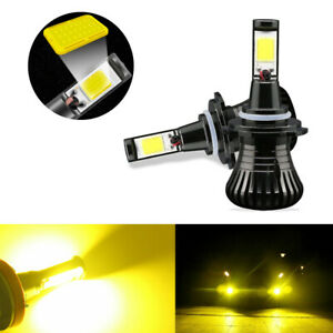 Switchable Strobe Gold Yellow 9005 9006 H10 Cob Led Bulbs For Fog Daytime Lights