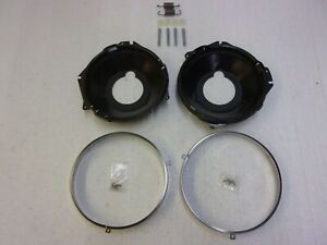Headlight Trim Ring Bucket Kit 71 72 El Camino Chevelle 70 72 Mc Khltrb
