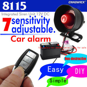 2 Ways Remote Control Alarm Security System Lock Universal Car Vehicle Kit