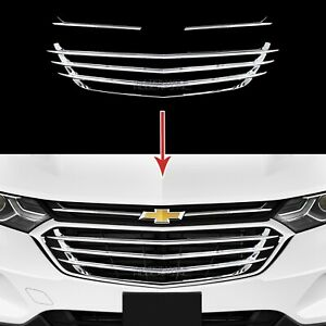 2018 2020 Chevy Equinox Chrome Snap On Grille Overlay Front Grill Covers Inserts