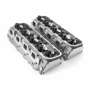 Complete Aluminum Cylinder Heads Bbc Fit Chevy 454 320cc 115cc 2 25 1 88