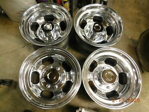 Set Polished 8 lug 16 5 X 9 3 4 Slot Mag Wheels Ford Chevy Dodge 4x4 Gmc Truck