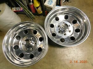 Polished 6 lug 16 5 X 9 3 4 Mag Wheels Chevy Gmc Datsun 4x4 Truck Mags Toyota