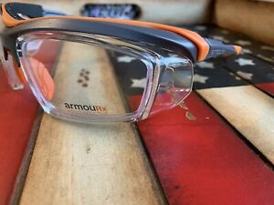 Prescription Safety Glasses Armourx 6008 Grey orange Ansi csa Option To Add Rx