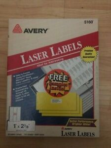 Avery Compatible 5160 Size Address Labels Blank Labels Brand Ink Jet And Laser