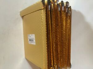 3m Scotch Bubble Mailers Lot 16 Gold 8 5 X 11 25in Shipping Gift Padded New